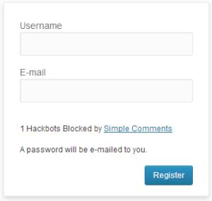 WordPress Login Form Hackbot Security